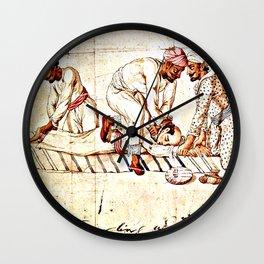 Thugs Strangling Traveller Wall Clock