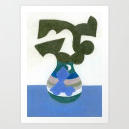 Moonlight Mystery Vase Art Print