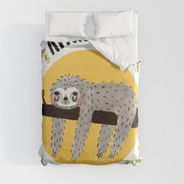 Afternoon Nap Club Sloth Duvet Cover