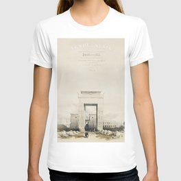 Great gateway leading to the Temple of Karnak Thebes  by David Roberts (1796-1864) T-shirt
