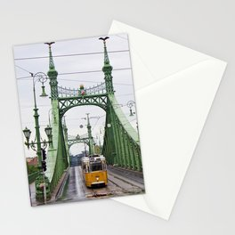 Yellow Tram in Budapest Stationery Cards