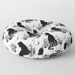 Night Garden Cat Floor Pillow