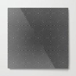 Black Graphic Flower Metal Print