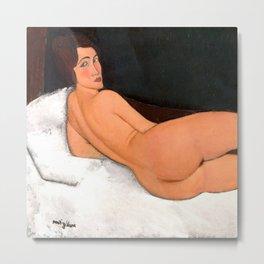 """Amedeo Modigliani """"Nu couché (sur le côté gauche)"""" Metal Print"""