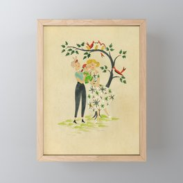 Happy Family III Framed Mini Art Print