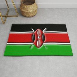 Kenyan 3D Flag Rug
