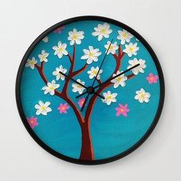 Whimsical Spring Wall Clock