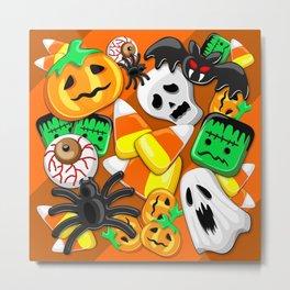 Halloween Spooky Candies Party Metal Print