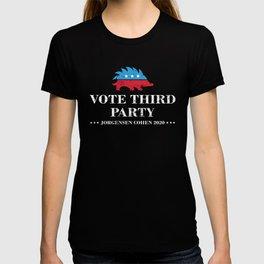 Vote Third Party Libertarian Jorgensen Cohen 2020 design T-shirt