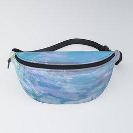 planet surfing - blue butterflies Fanny Pack