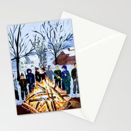 Winter Wassail Bonfire Stationery Cards