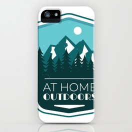 At home outdoors iPhone Case
