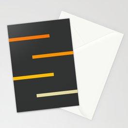 Abstract Minimal Retro Stripes Ashtanga Stationery Cards