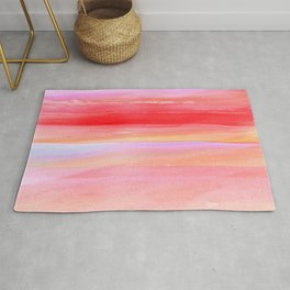 Seascape in Red, Yellow and Pink Rug