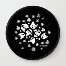 KiniArt Westie Bouquets Wall Clock