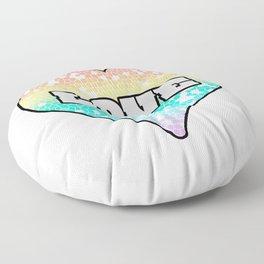 Pastel Love Mosaic FIlled Heart Graphic Design  Floor Pillow