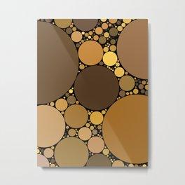 halsey redux: chocolate caramel dark brown abstract design Metal Print