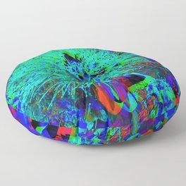 """Kiwi Lifestyle"" - Pohutukawa NZ Blue Bloom- Pop ART Floor Pillow"
