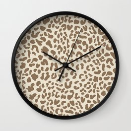 Light Tan Leopard Skin Wall Clock