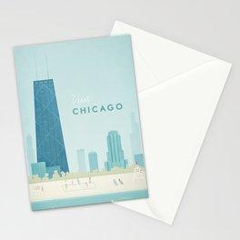 Vintage Chicago Travel Poster Stationery Cards