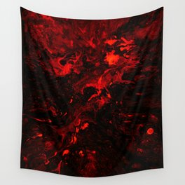 Red Blood Splatter Wall Tapestry