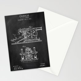 Cannon chalkboard patent Stationery Cards