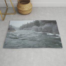 Winter On The Deschutes River Rug