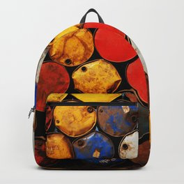 Gasoline Rusty Tin Cans Pattern Backpack