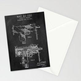 Mac 10 Uzi chalkboard patent Stationery Cards
