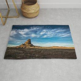 Somewhere In Time - Western Scenery of Agaltha Peak in Northern Arizona Rug