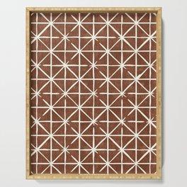 geometric triangles - brandywine Serving Tray