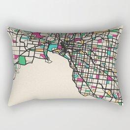 Colorful City Maps: Melbourne, Australia Rectangular Pillow
