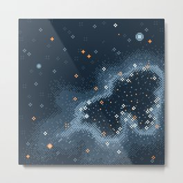 Grey Rift Galaxy (8bit) Metal Print
