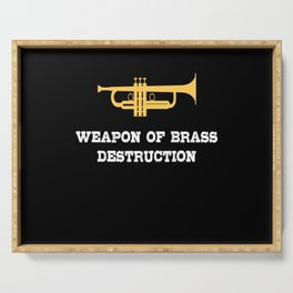 Weapon Of Brass Repeat Musicans Instrument Serving Tray