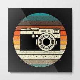 Vintage Retro Camera Photographer Gift Metal Print