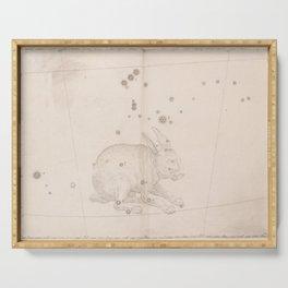 Johann Bayer - Uranometria / Measuring the Heavens (1661) - 35 Lepus / The Rabbit Serving Tray