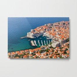 Old Town Of Dubrovnik Aerial View Metal Print