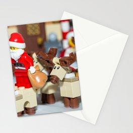 Santa Prepares reindeers Stationery Cards
