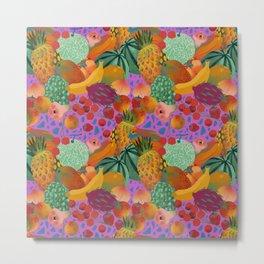 Fruits paradise kaleidoscope Metal Print