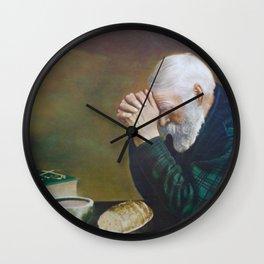 Eric Enstrom Grace Man Praying Over Bread Wall Clock
