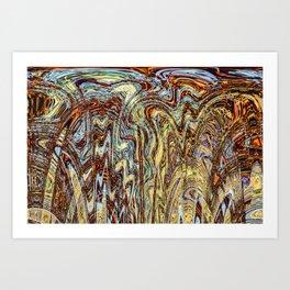 Scramble - Digital Abstract Expressionism Art Print