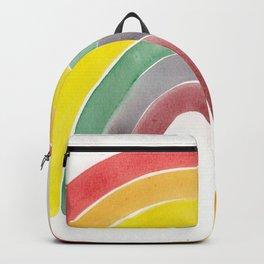 Watercolour rainbow Backpack