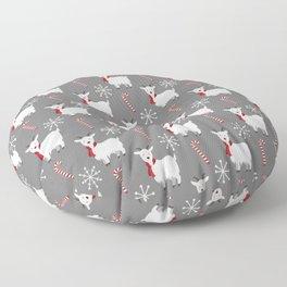 Christmas Candy Goat Floor Pillow