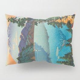 Tsuchiya Koitsu Vintage Japanese Woodblock Print Fall Autumn Mount Fuji Pillow Sham