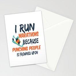 i run marathon run marathon punching beat Stationery Cards