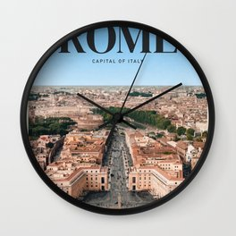 Visit Rome Wall Clock
