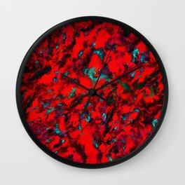 Fluttering red Wall Clock