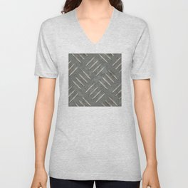 Metal diamond plate Unisex V-Neck