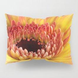 Yellow Gerber Daisy Pillow Sham