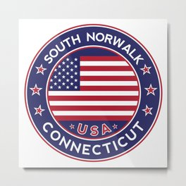 South Norwalk, Connecticut Metal Print